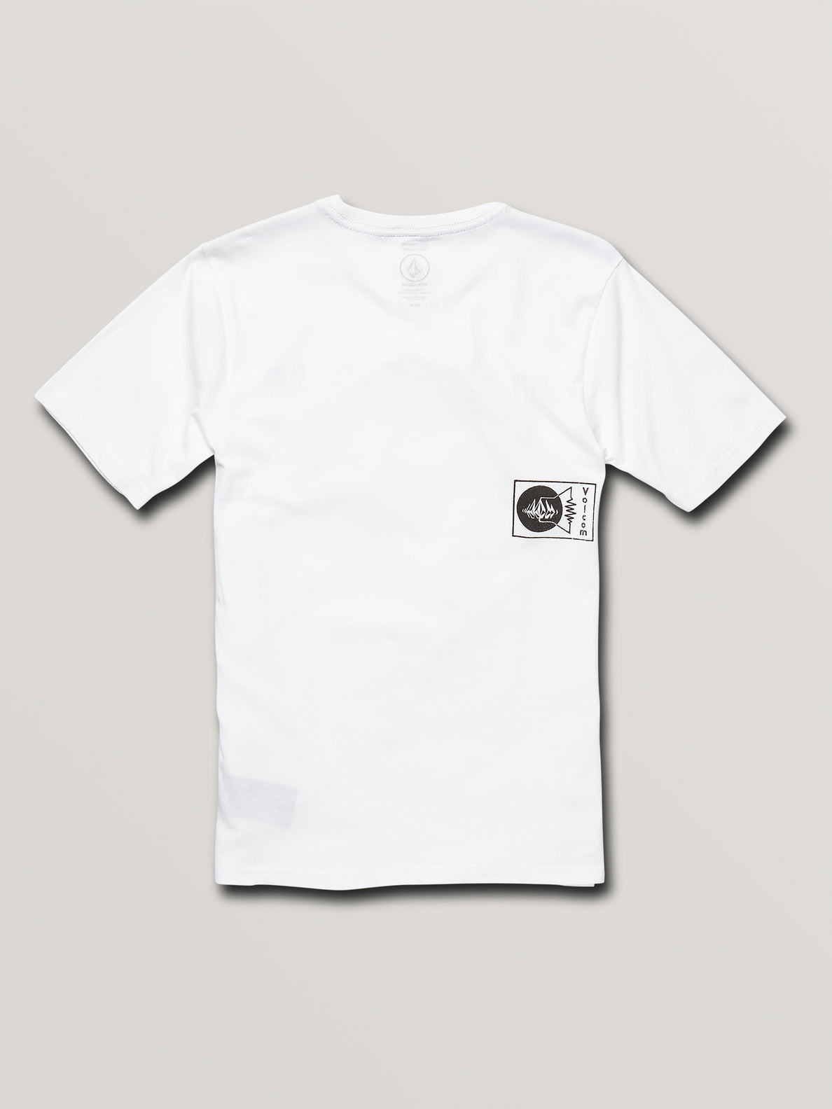 Big Boys Audio Waves Short Sleeve Tee In White, Back View