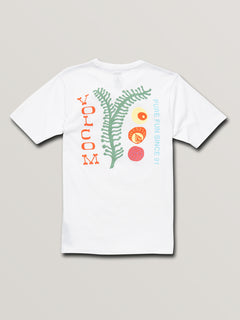 Big Boys Natural Fun Short Sleeve Tee In White, Back View