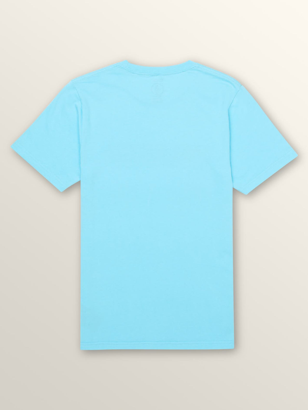 Big Boys Harsh Fade Short Sleeve Tee In Aqua, Back View