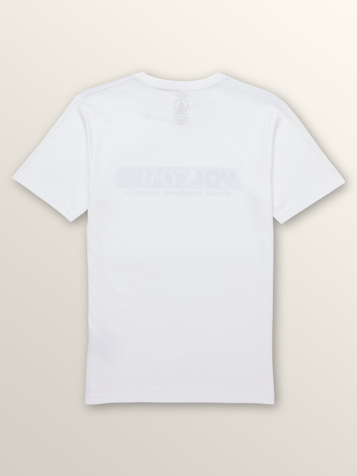 Big Boys Harsh Fade Short Sleeve Tee In White, Back View
