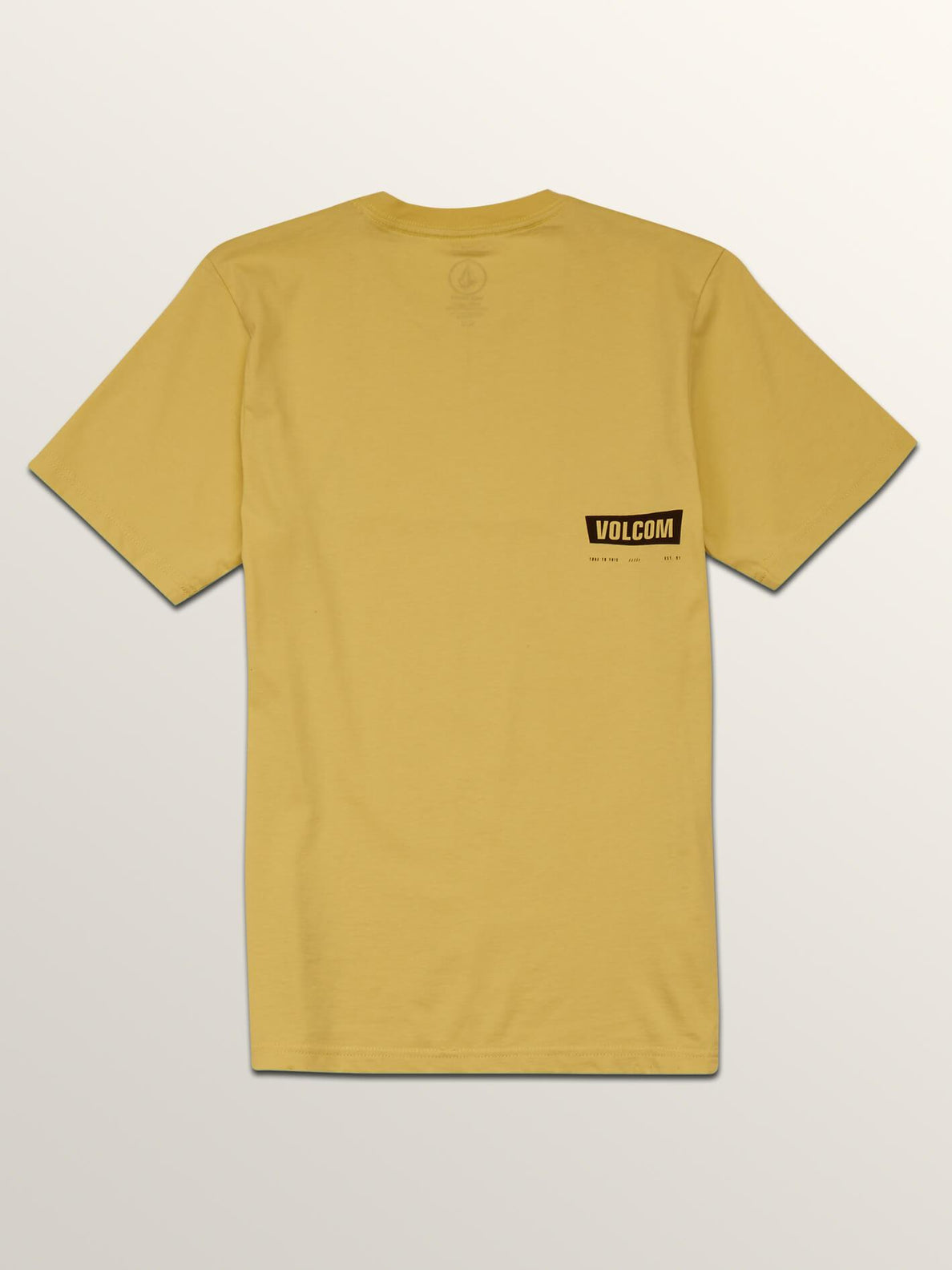 Big Boys Deadly Stone Short Sleeve Tee In Acid Yellow, Back View