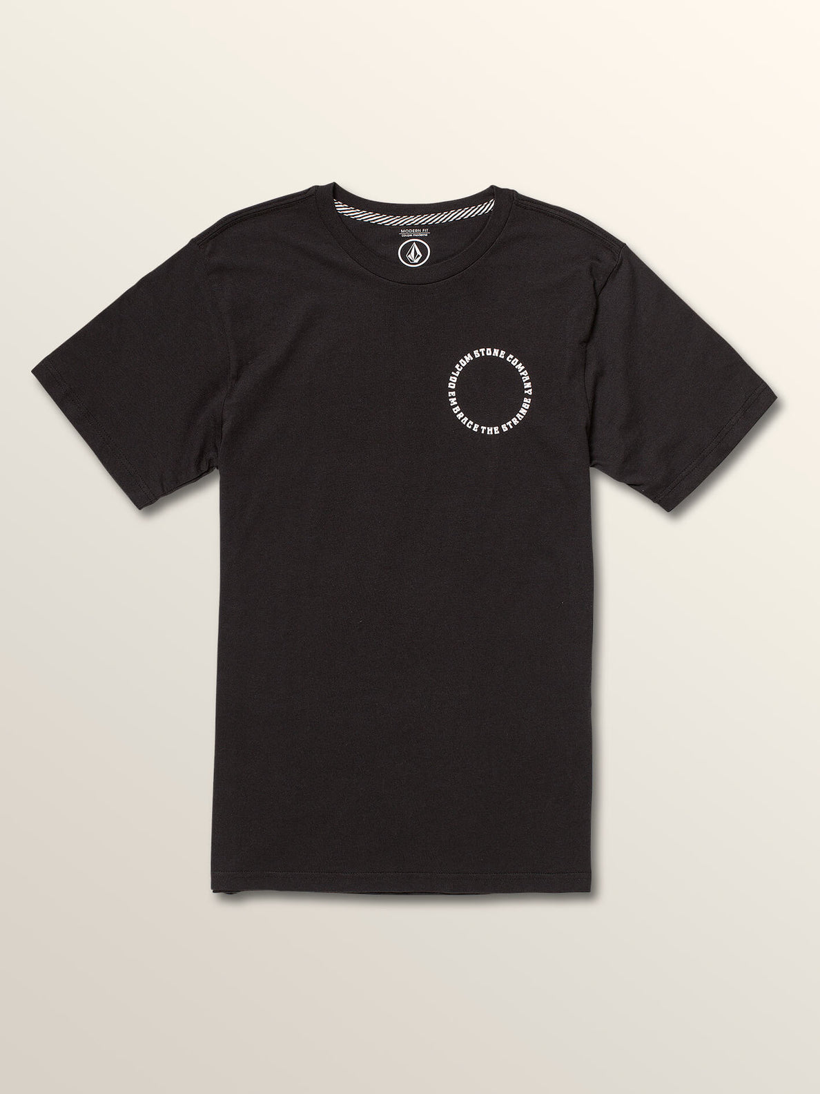 Big Boys Voleidospoica Short Sleeve Tee In Black, Front View