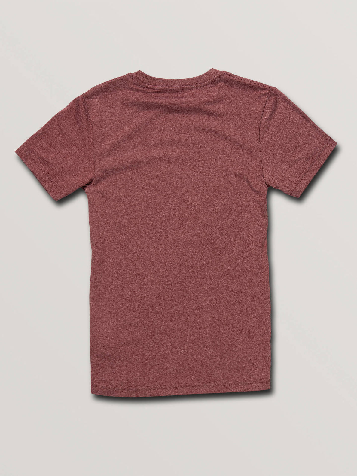 Big Boys Stamp Divide Short Sleeve Tee In Crimson, Back View