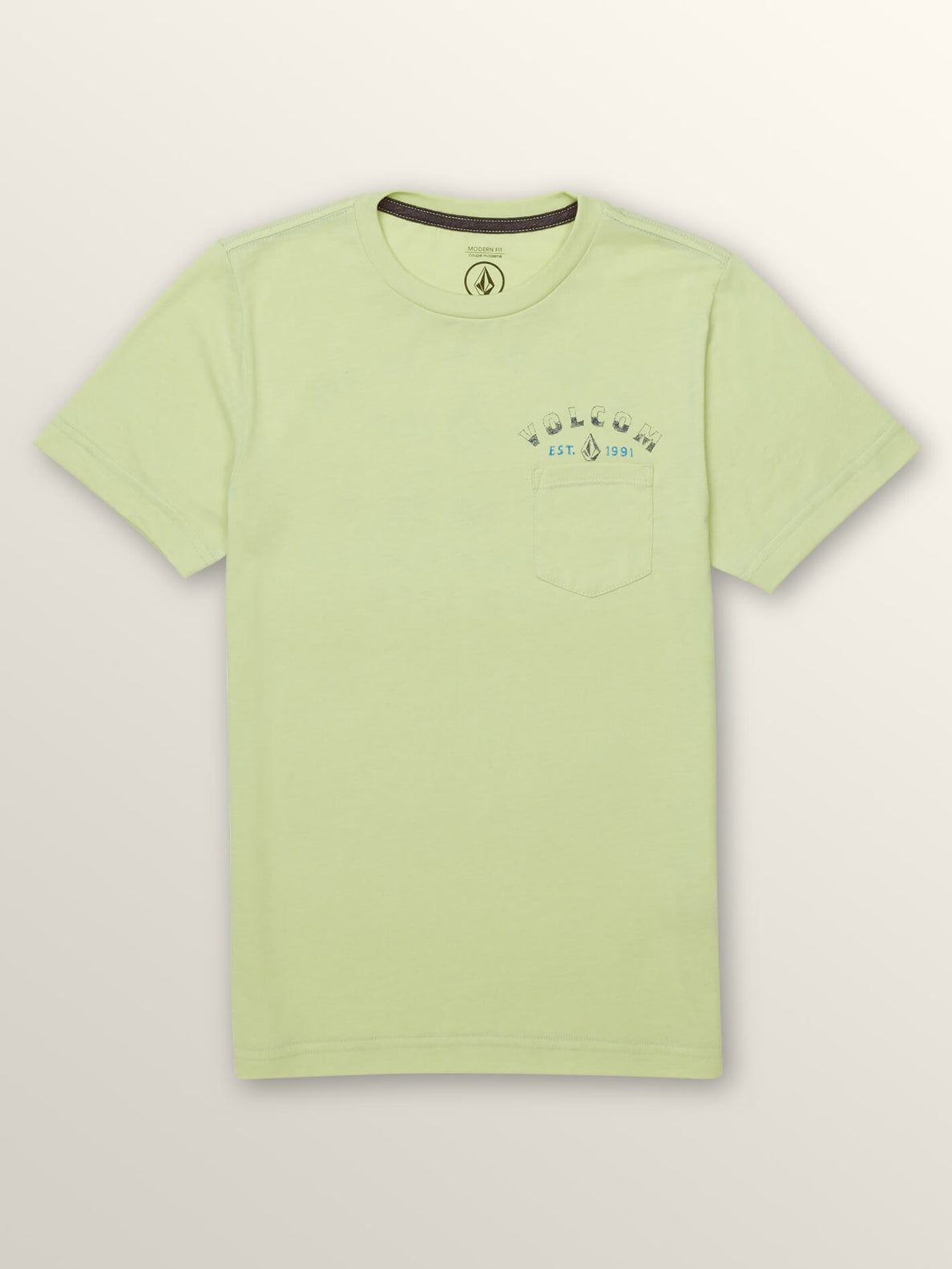 Big Boys Signer Short Sleeve Pocket Tee In Mist Green, Front View
