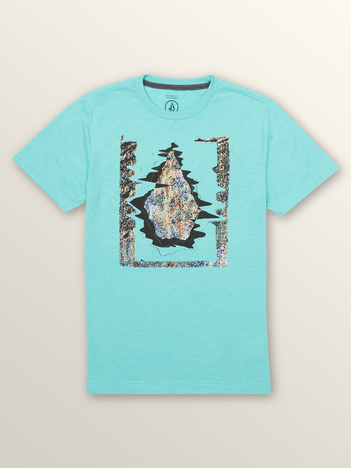 Big Boys Statiq Short Sleeve Tee In Turquoise, Front View