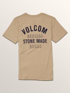 Big Boys Safe Bet Short Sleeve Tee In Oatmeal, Back View