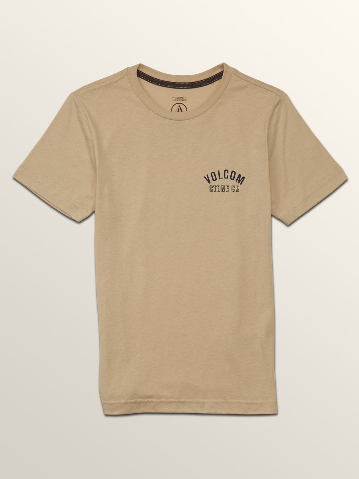 Big Boys Safe Bet Short Sleeve Tee In Oatmeal, Front View