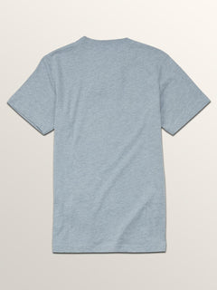Big Boys Line Tone Short Sleeve Tee In Arctic Blue, Back View