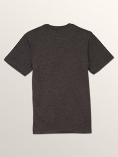 Big Boys Macaw Short Sleeve Pocket Tee In Heather Black, Back View
