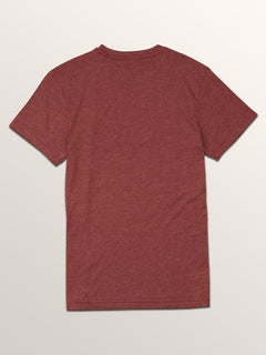 Big Boys Feelings Short Sleeve Tee In Crimson, Back View