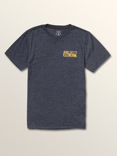 Big Boys Bend Short Sleeve Tee In Navy, Front View