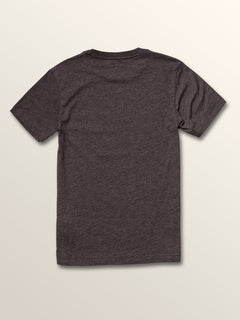 Big Boys Cycle Stone Short Sleeve Tee In Heather Black, Back View