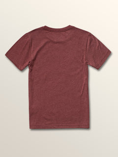 Big Boys Idle Short Sleeve Tee In Crimson, Back View