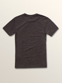 Big Boys Idle Short Sleeve Tee In Heather Black, Back View