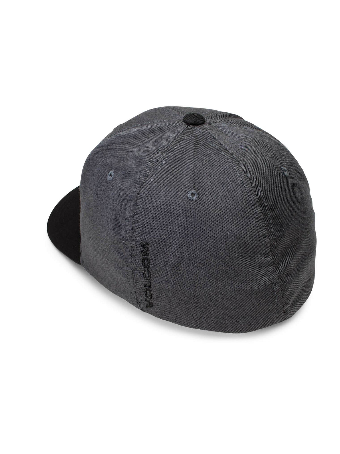 Full Stone Xfit Hat In Asphalt Black, Back View
