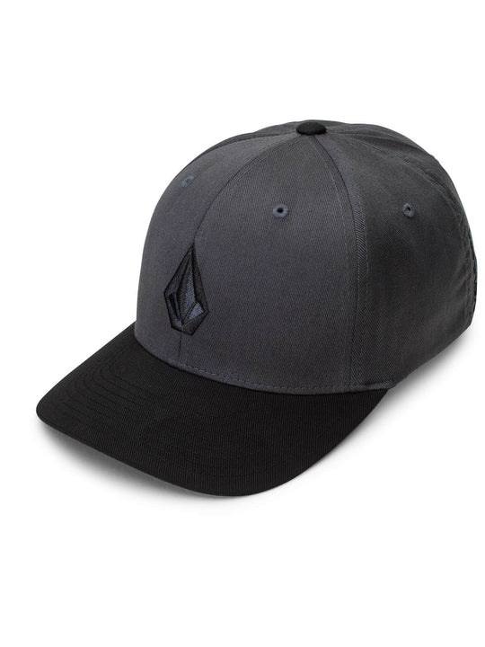 Full Stone Xfit Hat In Asphalt Black, Front View