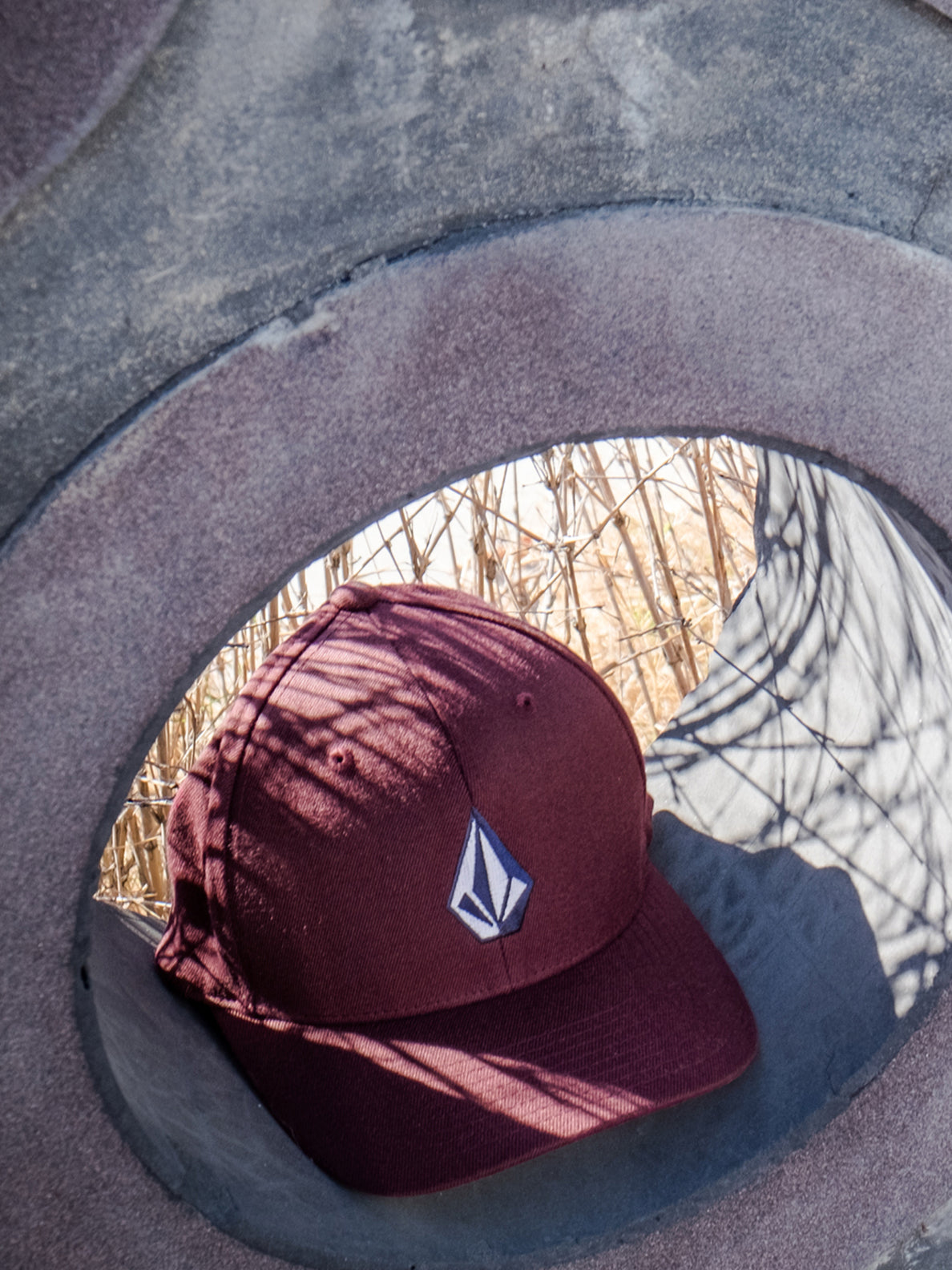 Full Stone XFit Hat - Dark Port (D5511105_DKP) [01]