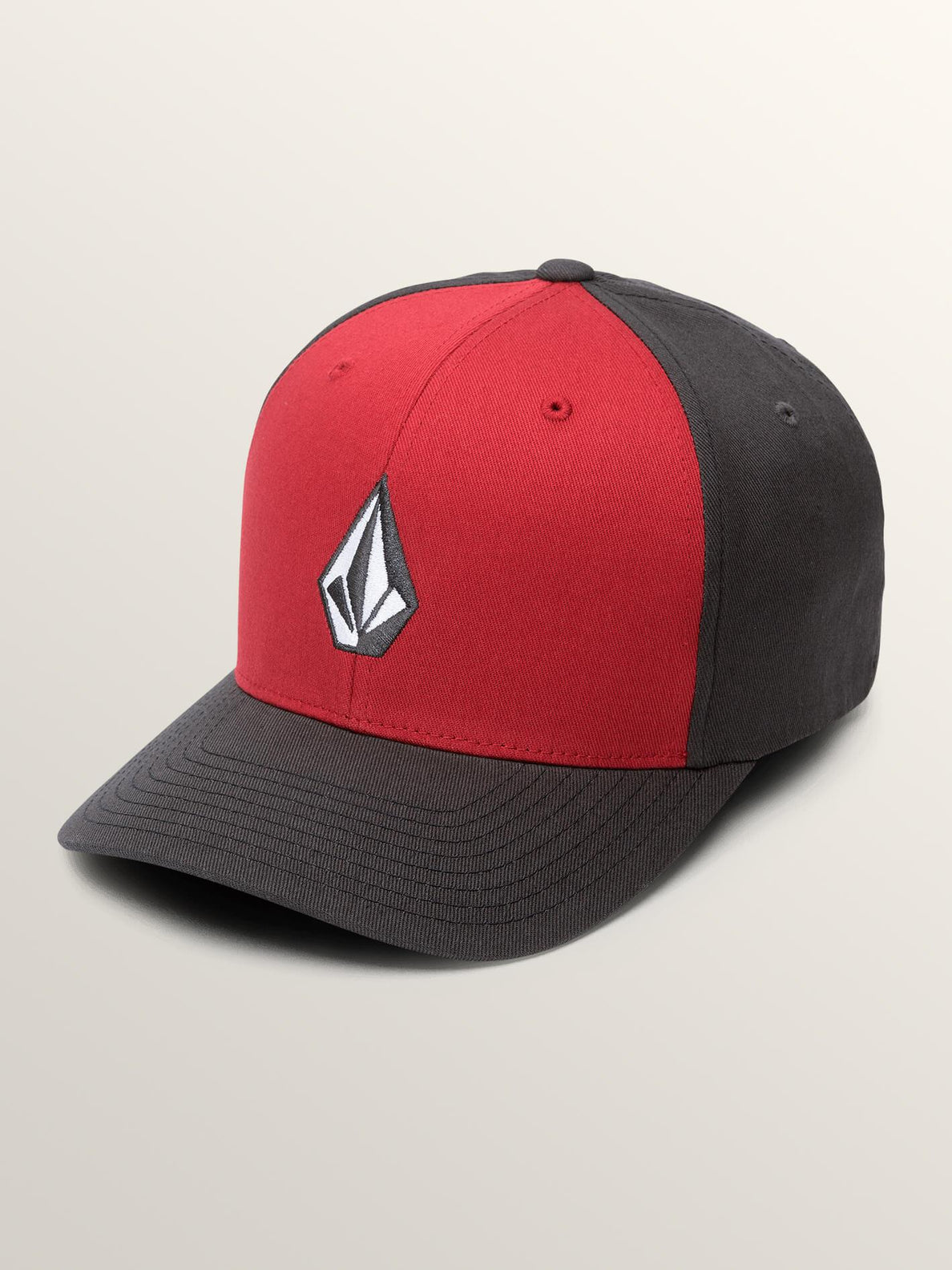 Full Stone Xfit Hat In Engine Red, Front View