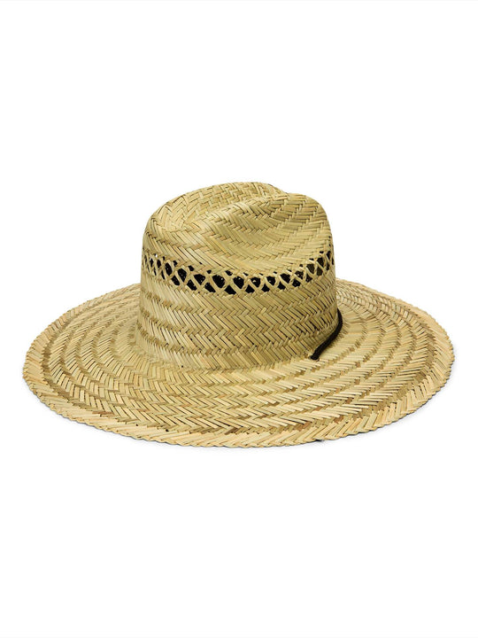 Hellican Straw Hat In Natural, Back View