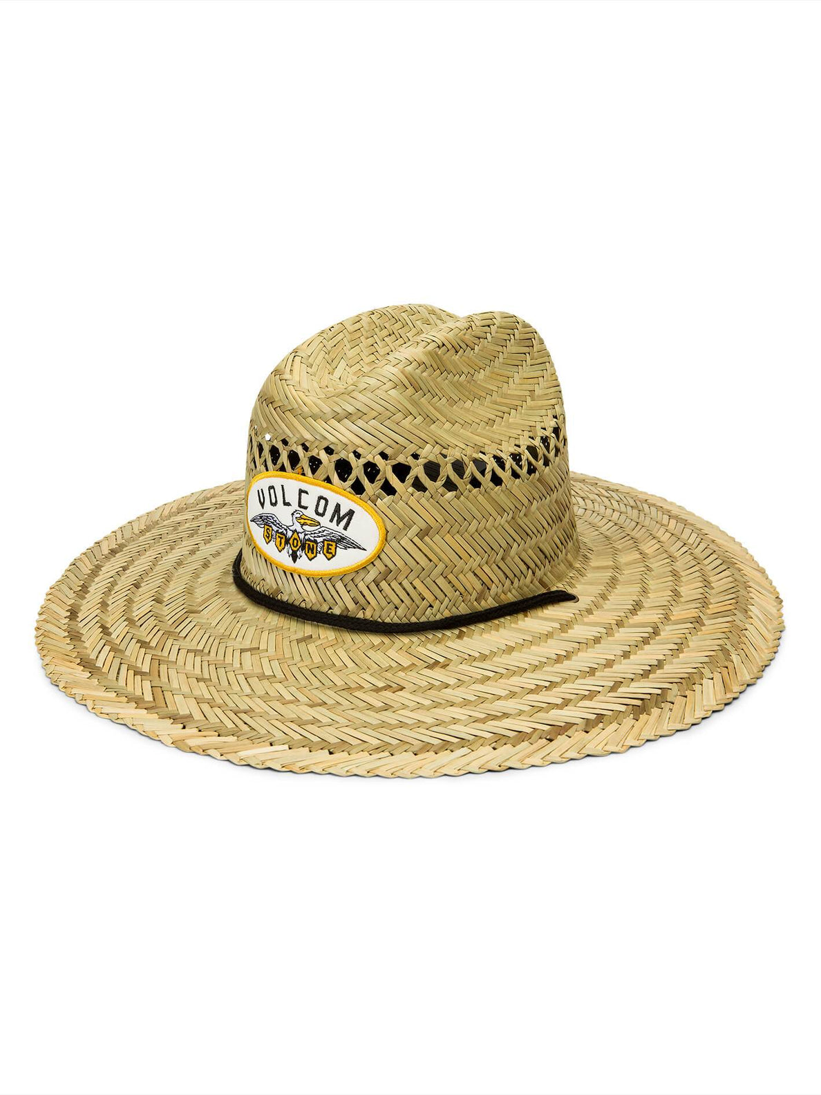 Hellican Straw Hat In Natural, Front View
