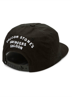 Swingers Saloon Hat In Black, Back View
