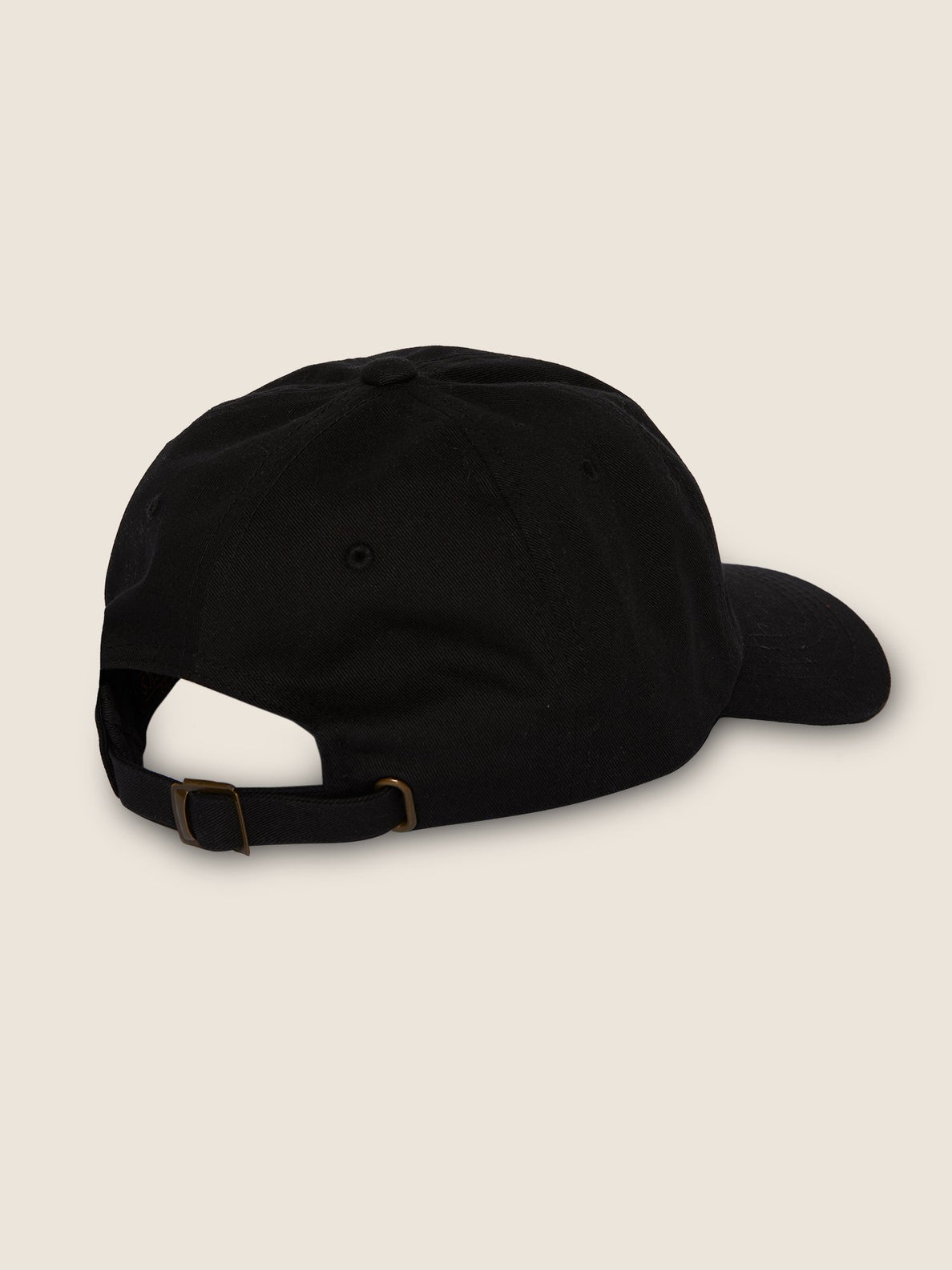 New Shield Dad Hat In Black, Back View