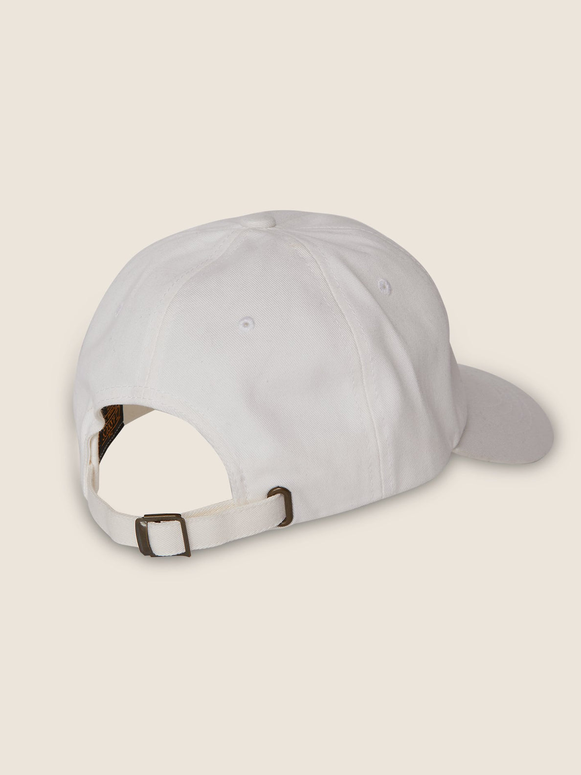 New Shield Dad Hat In White, Back View