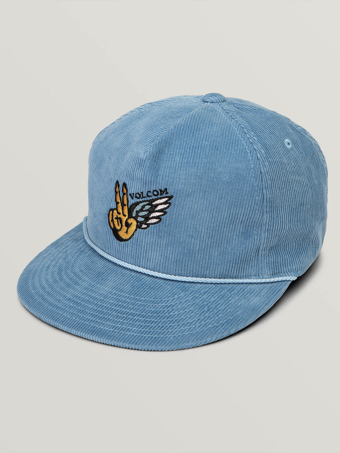 Peace Wing Hat In Vintage Blue, Front View