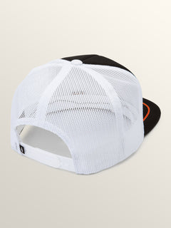Shreddar Hat In White Flash, Back View