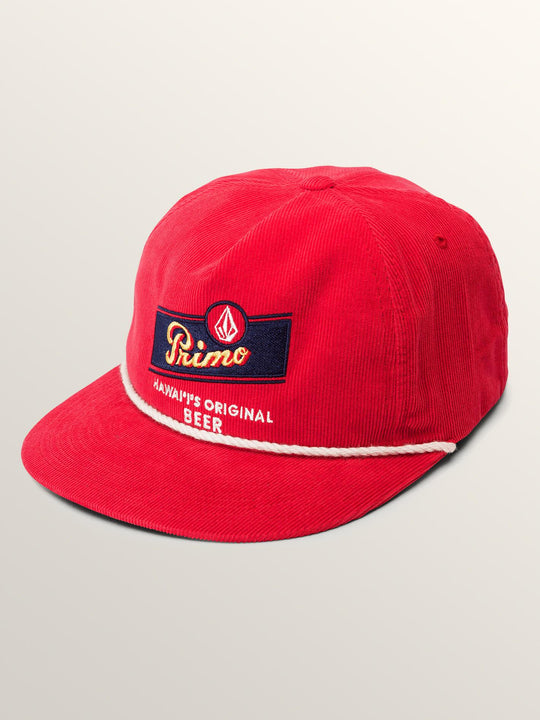 Primo Chug Cap In Spark Red, Front View