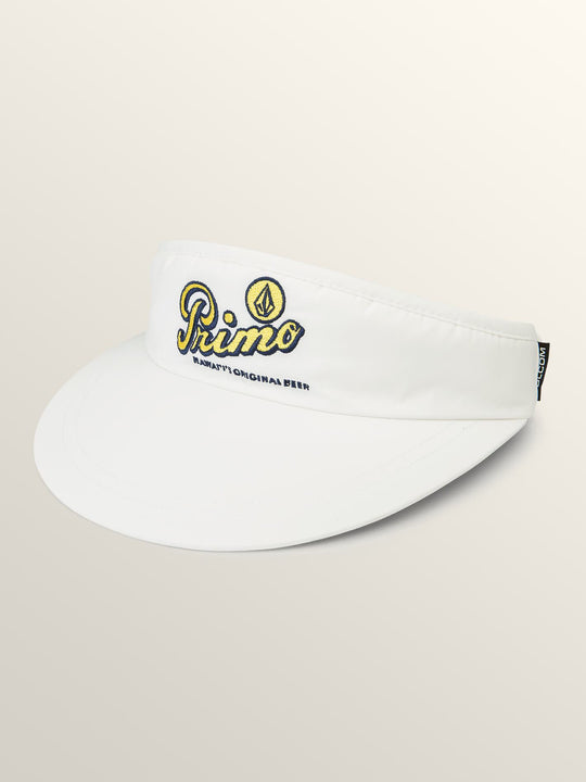 Primo Island Visor In White, Front View