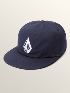 Stone Battery Hat In Navy, Front View