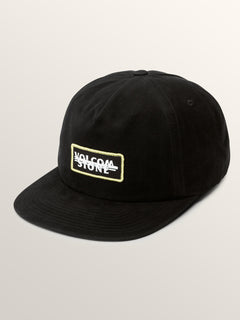 Scribble Stone Hat In Black, Front View