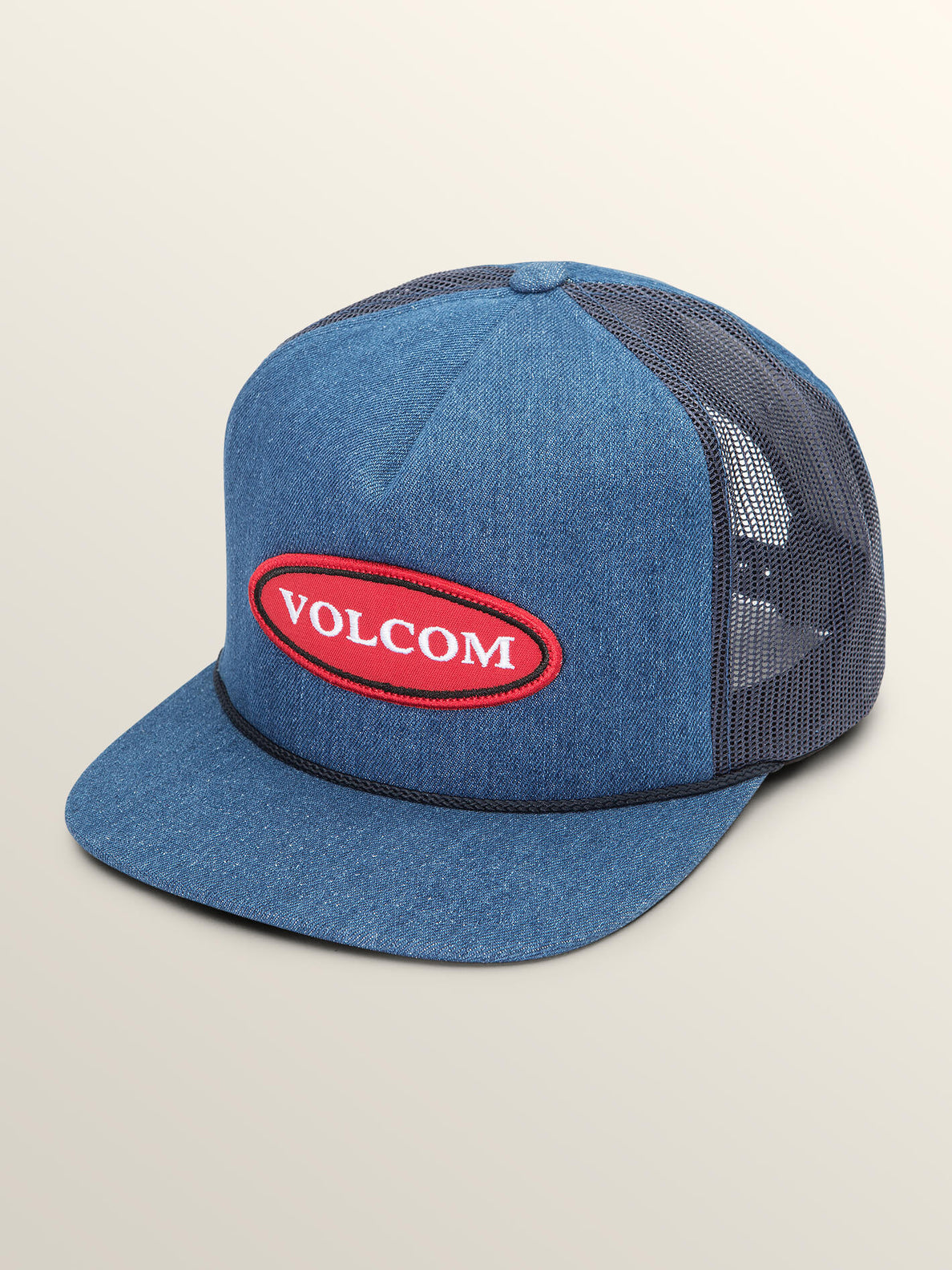 Logger Cheese Hat In Indigo, Front View