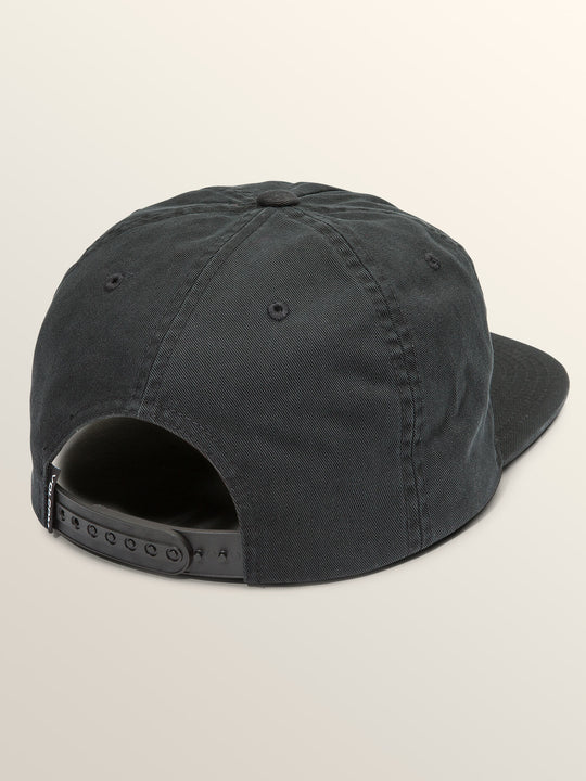 Cycle Stone Hat In Black, Back View