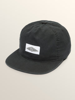 Cycle Stone Hat In Black, Front View