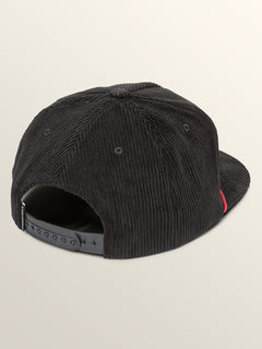 Stone Glide Hat In Black, Back View