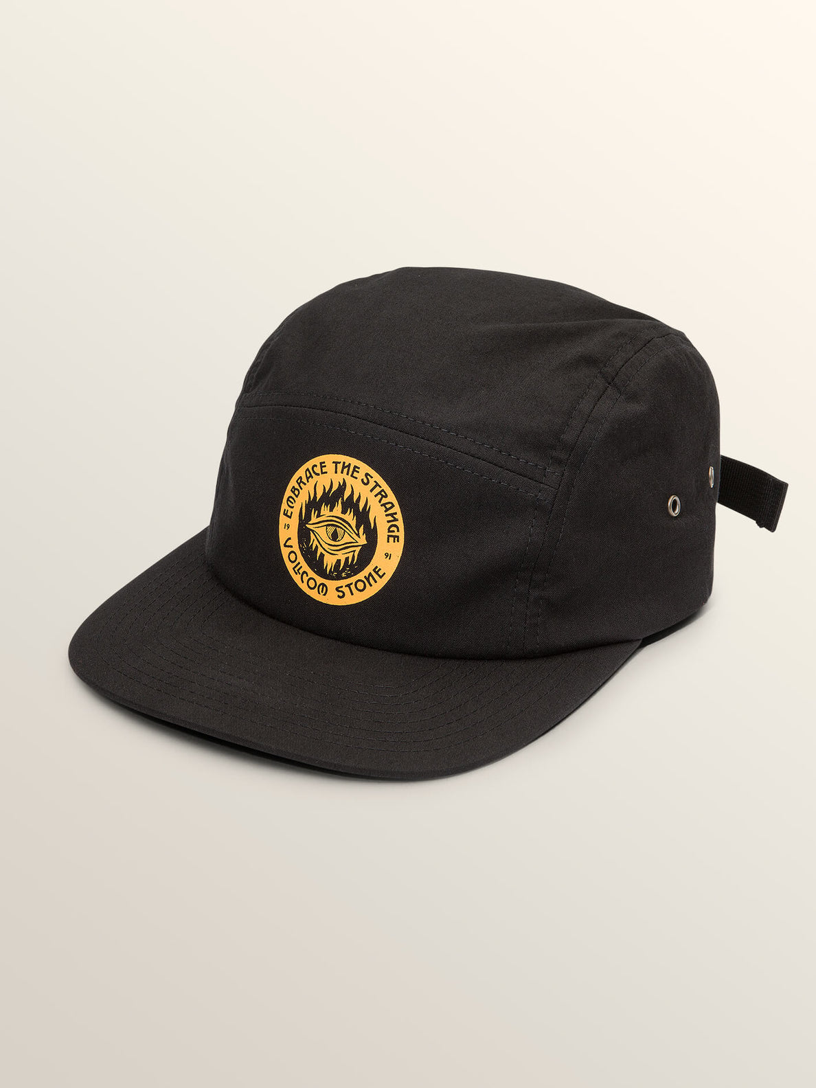 Hot Visions Hat In Black, Front View