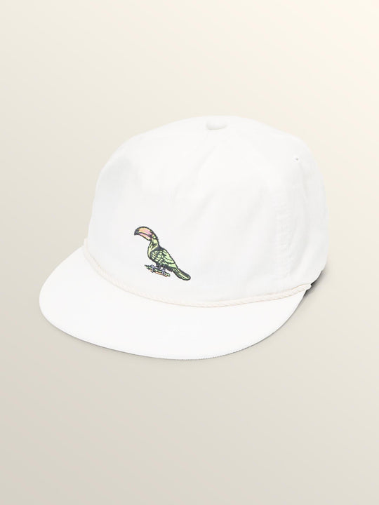 Tou-can Do It Hat In White, Front View