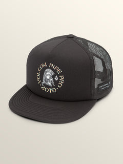 Vpp Helmet Cheese Hat In Black, Front View