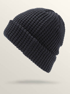 Scribble Stone Beanie In Navy, Back View