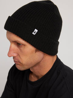 Naval Beanie In Black, Alternate View