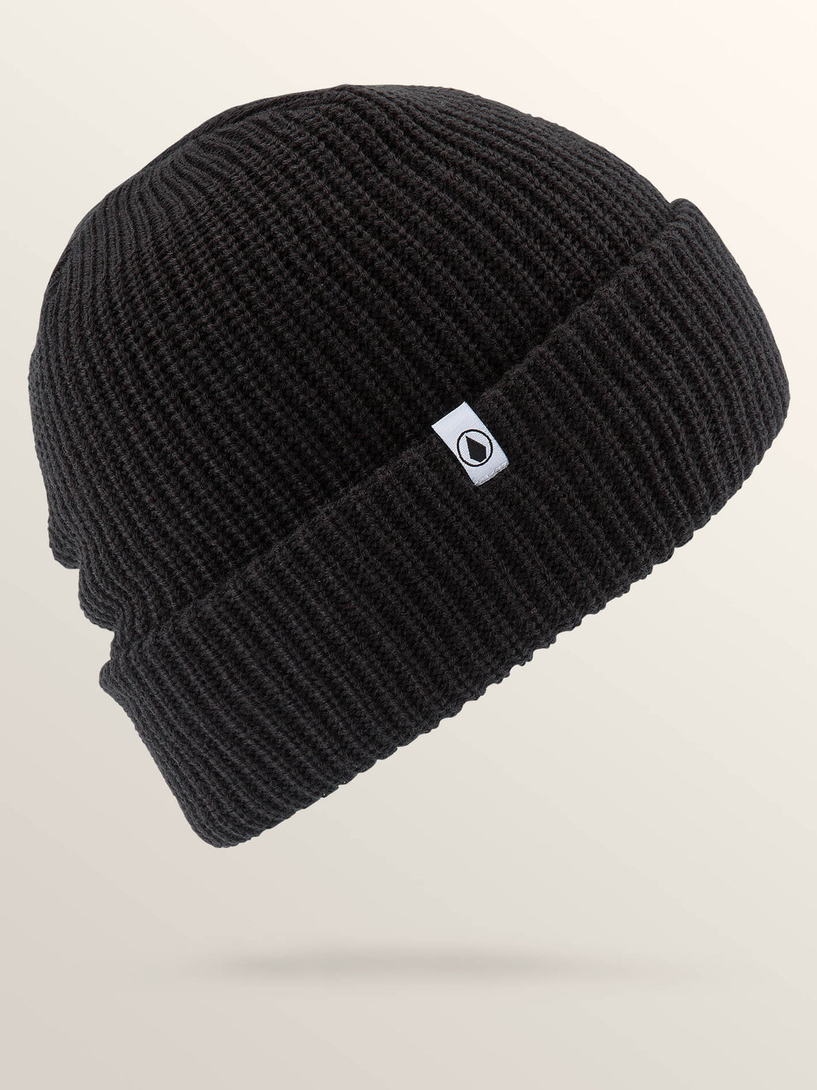 Naval Beanie In Black, Front View