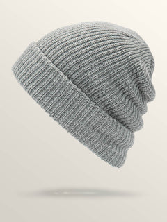 Naval Beanie In Heather Grey, Back View