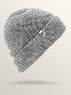 Naval Beanie In Heather Grey, Front View