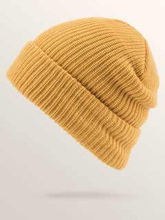 Naval Beanie In Seedy Yellow, Back View