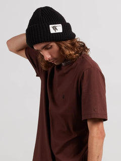 Volcom X Kyle Walker Beanie In Black, Front View