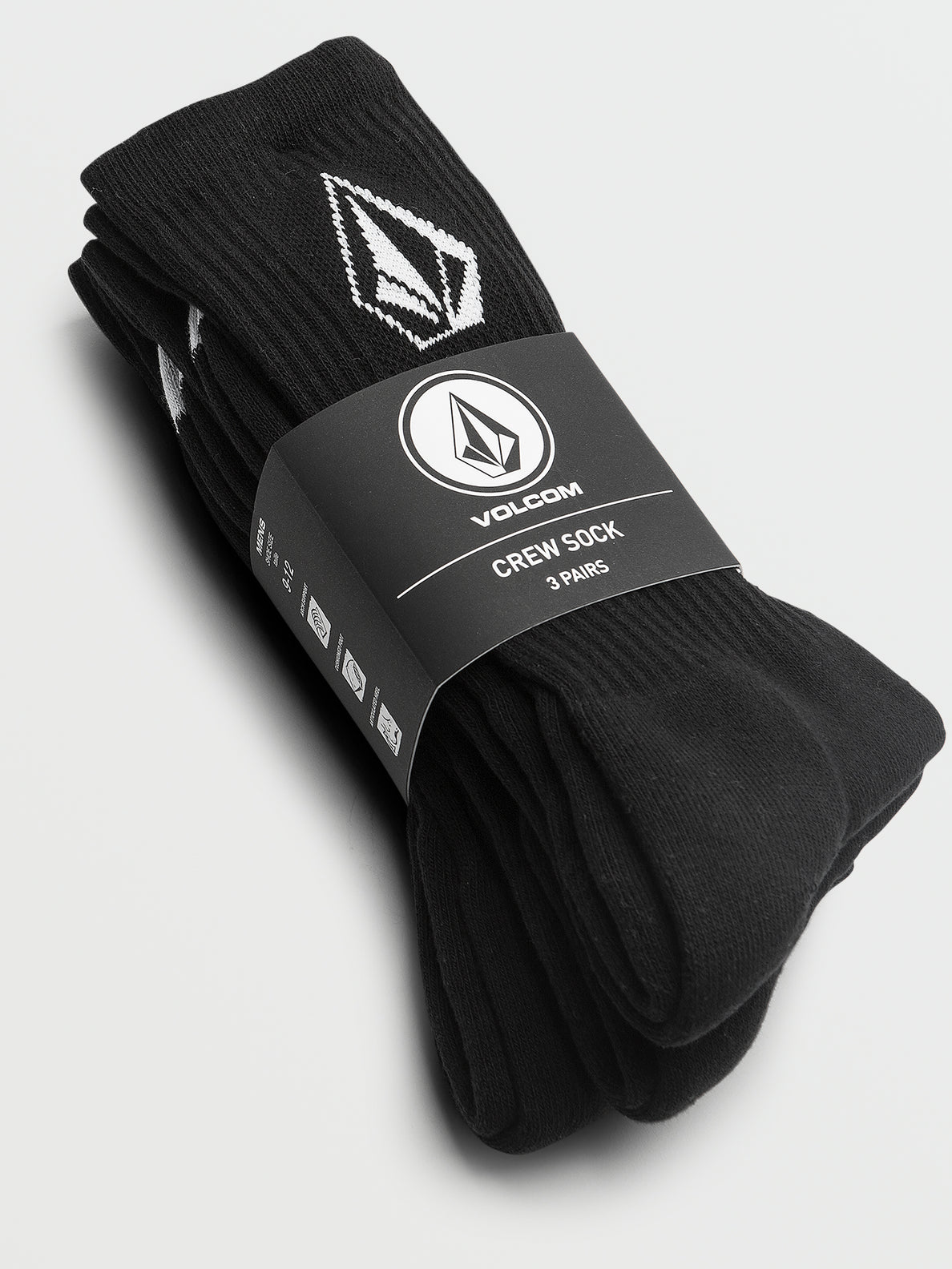 Full Stone Sock 3Pk - Black