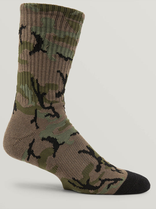 Noa Socks In Camouflage, Back View