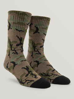 Noa Socks In Camouflage, Front View